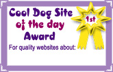 Cool Dog Site of the Day Award button